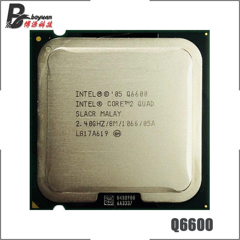 Процессор Intel Core 2 Quad Q6600 2,4 ГГц четырехъядерный процессор 8M 95W 1066 LGA 775 cpu processor core 2 quad2 quad   АлиЭкспресс