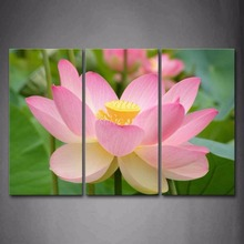 3 Pieces Picture Painting Wall Art Room Decor Print Poster beautiful lotus Wall Pictures for Living Room Canvas Painting Framed цена