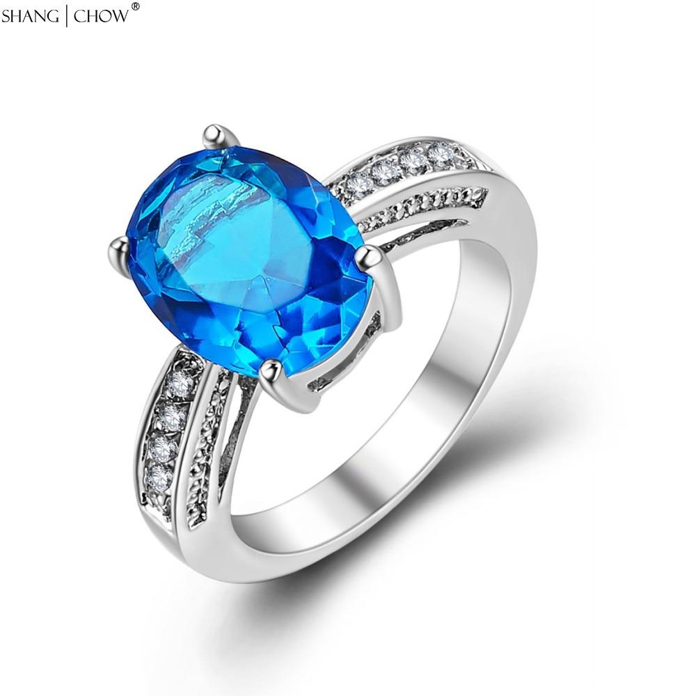 ᗜ Ljഃ2017 joyería de moda azul piedra de cuarzo 925 anillo de plata ...