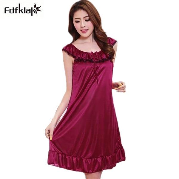 Women sleepwear sexy sleep nighties short underwear nightgowns female plus size indoor clothing ladies night dress nightshirts