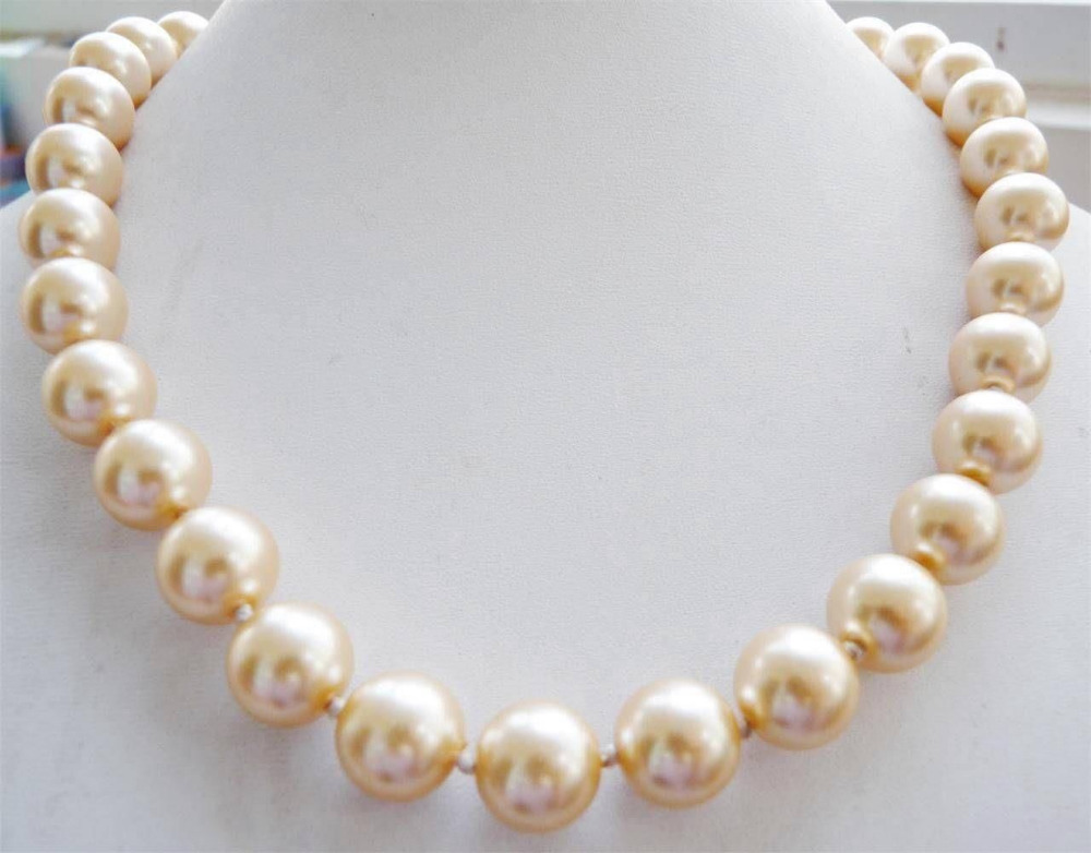 9~10mm AAA White Yellow South Sea Pearl Round Necklace 18 style Fine Noble real Natural free shipping