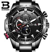 Suíça relógio automático men binger mecânica dos homens relógios de luxo marca superior militar relógio relogio masculino montre homme|Relógios mecânicos| |  -