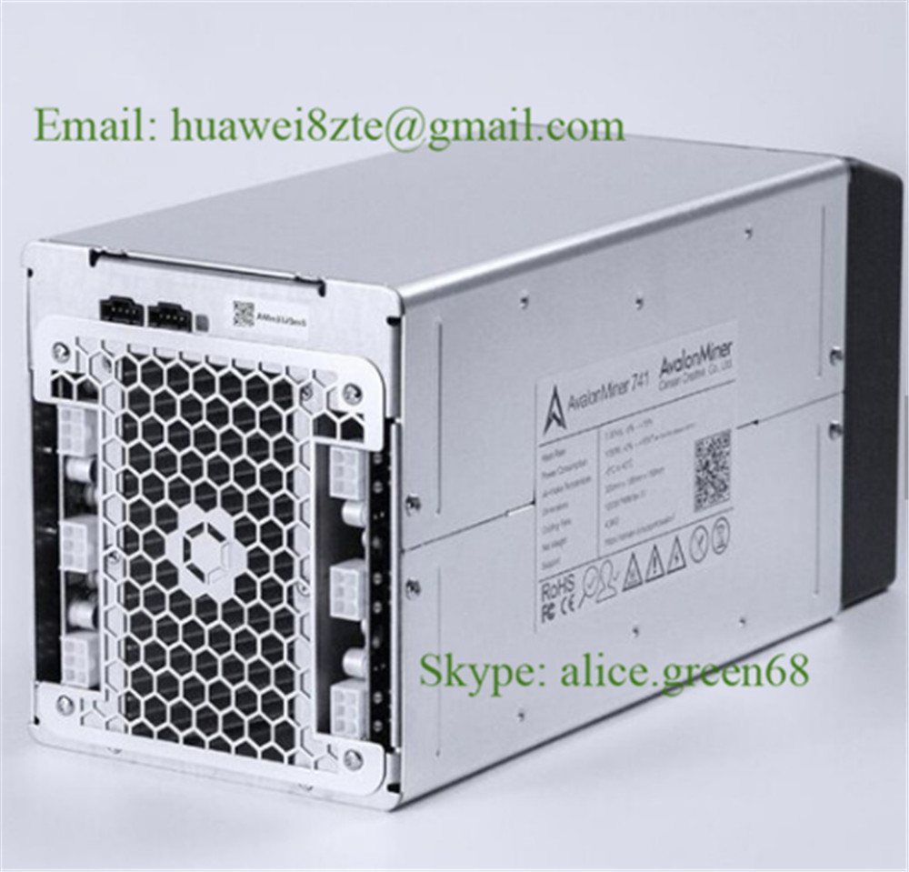 Brand new Bitcoin Miner Avalon 741 with PSU and controller Kit Raspberry Pi RPI3, Canaan 7.3 TH/s 1150W SHA256 ASIC for BTC BCH(China)