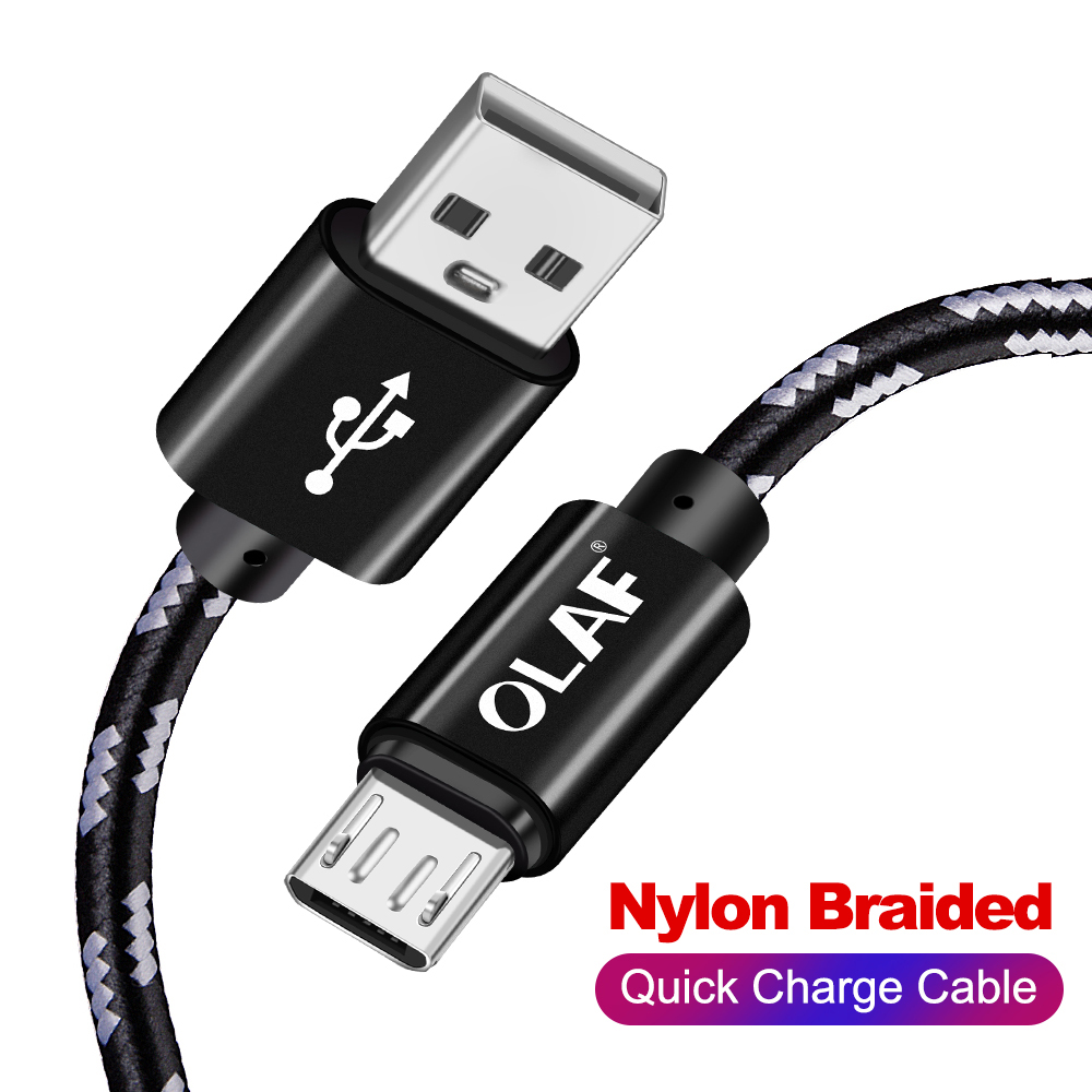 OLAF Micro USB Cable 3A Fast Charging Microusb Data Charger Cable For Samsung S7 Xiaomi Huawei LG Android Mobile Phone Cable in Mobile Phone Cables from Cellphones Telecommunications