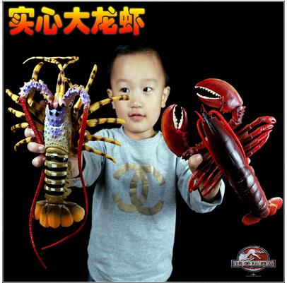 Symbol Of The Brand Simulation Lobster Model Toy Static Plastic Solid Seafood Marine Animal Decoration Child Birthday Gift-163 Biology
