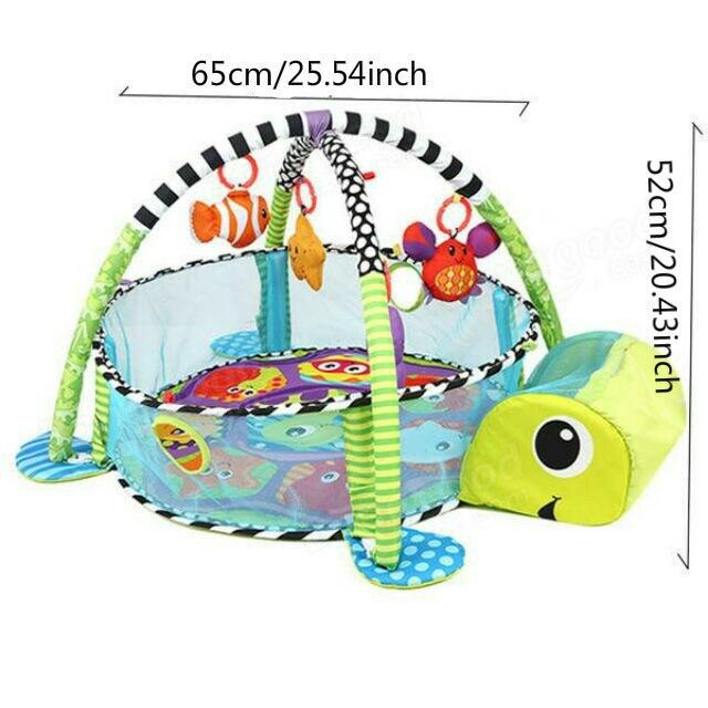 3 en 1 bébé tapis de jeu rond tortue Lion ramper couverture infantile tapis de jeu tapis de jeu enfants tapis d'activité Gym pliant Tapete Infantil - 2