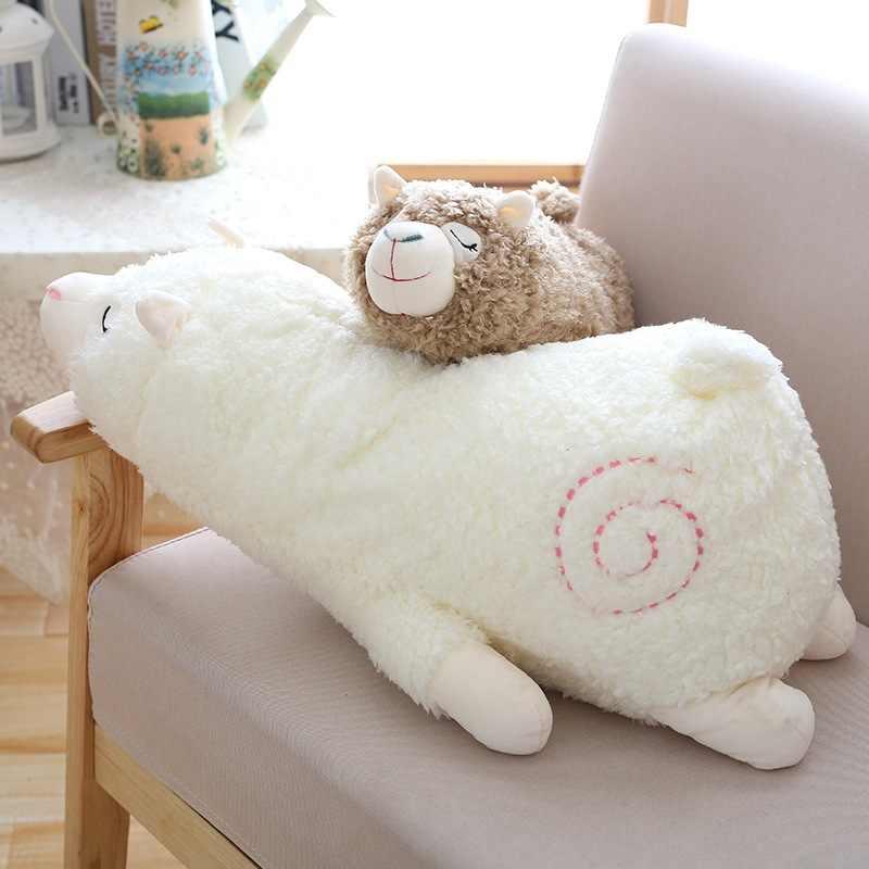 30 centímetros Macio Lhama Travesseiro Sono Dos Desenhos Animados Brinquedo De Pelúcia Alpaca Ovelhas Tecido do Ponto de Pelúcia E Brinquedos Macios Animal Para As Crianças presente