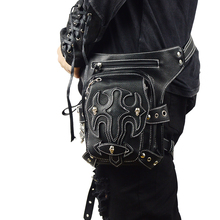 где купить New Arrival Small Steampunk Unisex Phone Leg Bag Retro Rock Waist Bag Gothic Travel Fanny Bag по лучшей цене