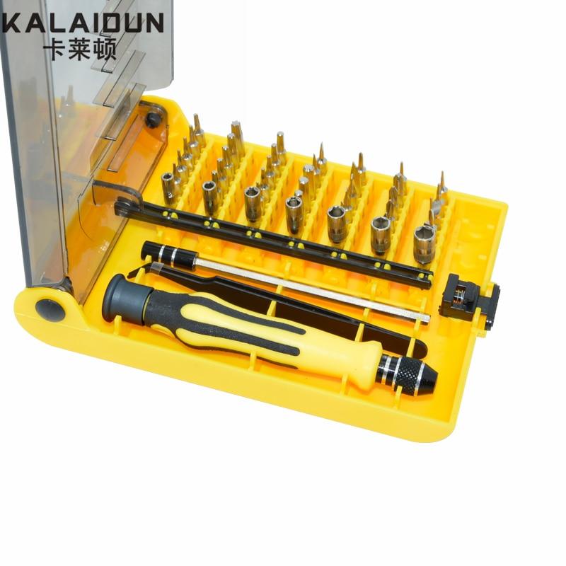 KALAIDUN Präzision 45 In 1 Schraubendreher Set Elektron-torx Mini Magnetic Handwerkzeuge Kit Eröffnung Reparatur Phone Hardware-Tool
