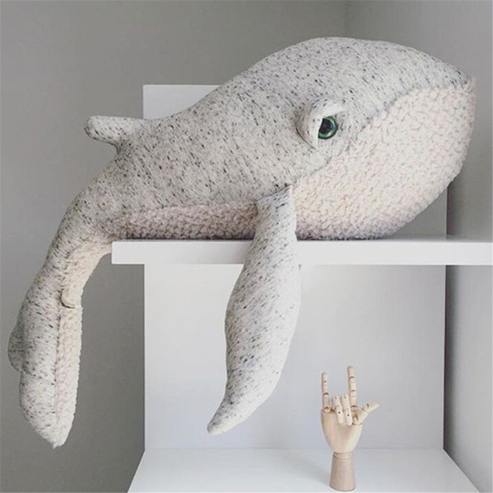 High Quality Cotton Padding Whale Doll Baby Child Toy Pillow Cushion Plush Toys Birthday Childrens Day Gift NEW