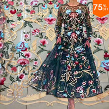 new Super Star sky powderful design most colorful Luxury elegant embroidery lace for Dress design competition design competition(China)