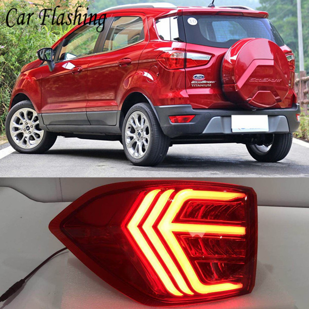 2PCS LED Tail Light For Ford Ecosport 2013 2018 2019 Car LED Rear Bumper Light LED