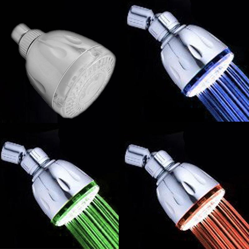 CY-8010-A6 Supernova Sale 3 Colors Temperature Sensor ABS LED Top Shower Head Led Shower ...