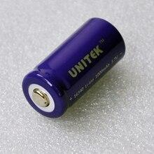 2 шт./упак. UNITEK 16340 3.7 В ICR литий-ионный аккумулятор 1000 мАч CR123A CR 123a литий-ионный элемент для лазерной фонарик