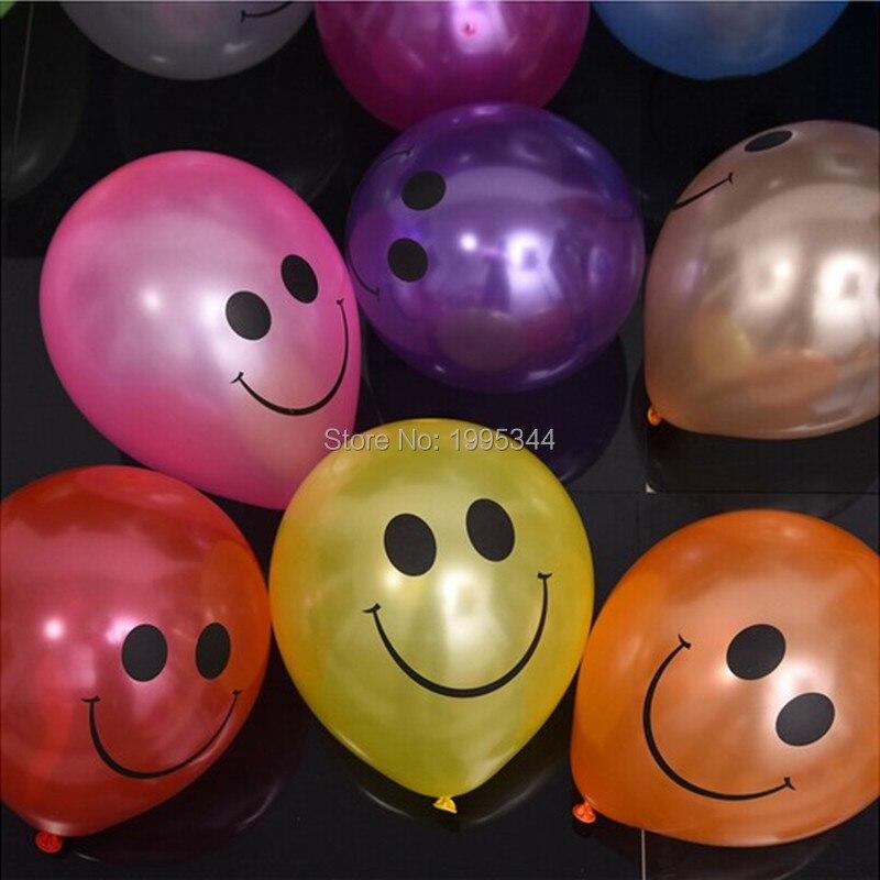 Engrossar Colorido boca grande balão do smiley 10 polegada 100 Pçs/lote, festa de aniversário do casamento Do Natal decoração rodada balão de látex