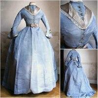Historical Civil War Southern Belle Gown evening Dress/Victorian Lolita dresses/scarlett dress US6 26 SC 916
