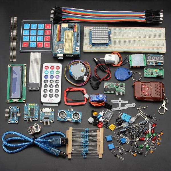 Deluxe Базовый Комплект Стартер Обучение Kit Для Arduino Uno R3 обучение kit Цифровой модуль управления Отправить через Столб Сингапур