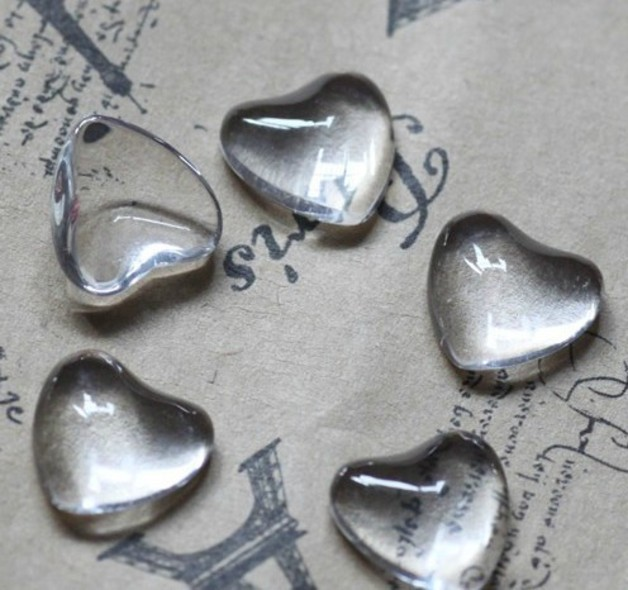 20pcs/lot 12mm Heart Flat Back Clear Glass Cabochon, High Quality, Lose Money Promotion!!!(Z3-01) pair of stylish rhinestone triangle stud earrings for women