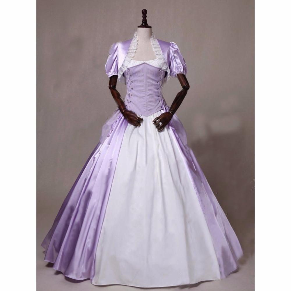 Custom Made Victorian Royal Princess Maid Marian Corset Bustle Gown Theatre Halloween Costume L0516
