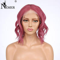 Однотонная одежда два тона Цвет 99J бразильский волосы отбеленные узлы плотность 130% Full Lace натуральные волосы парик с волосами младенца Волос