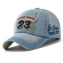New Brand Men Baseball Caps Outdoor Casual Cap Denim Wash Sports Hats Women Letter Patch Jean Denim Cap Sun Caps