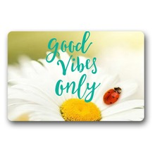 Door Entrance Mats Flowers Good Vibes Only woven outdoor mat design welcome indoor entrance doormats