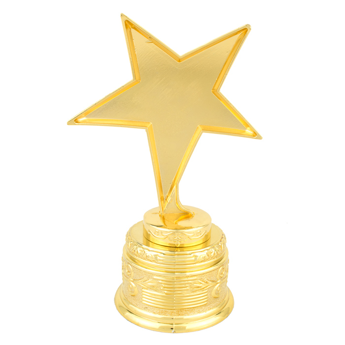 Russia Charm Metal Golden Star Trophy Cupzinc Alloy SouvenirsRewards GiftsThe Most Outstanding Gold Stars In Figurines Miniatures From