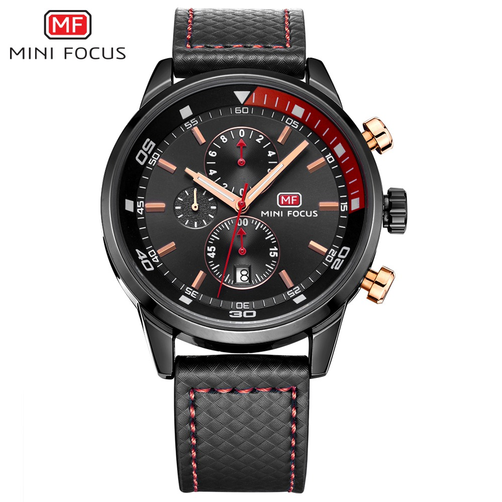Minifocus Top Fashion Sport Men Watches 2018 Brand Quartz Watch Luxury Famous Male Leather Clock Montre Homme Relogio Masculino gt watch men watch italy flag f1 sport watches silicone strap quartz watch male hour clock montre homme relogio masculino