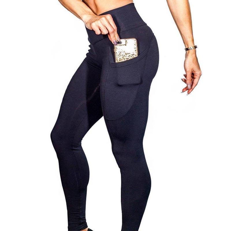 High Waist Fitness   Leggings   Women Push Up Workout   Legging   with Pockets Patchwork Leggins Pants Women Fitness Clothing