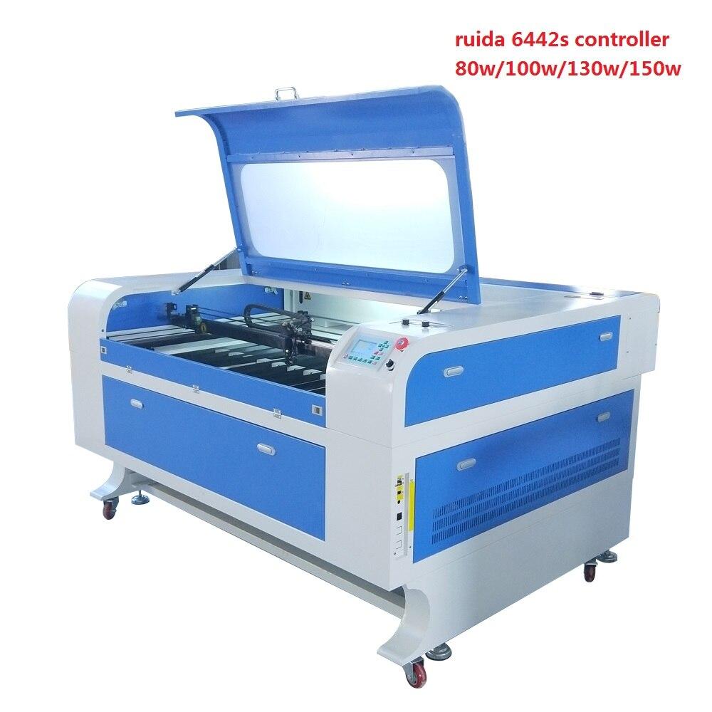JIN ZHI YIN 80W/100W/130W/150w Laser Cutting Engraving Machine 1300*900mm Ruida 6442s Controller Electrical Blade Work Table