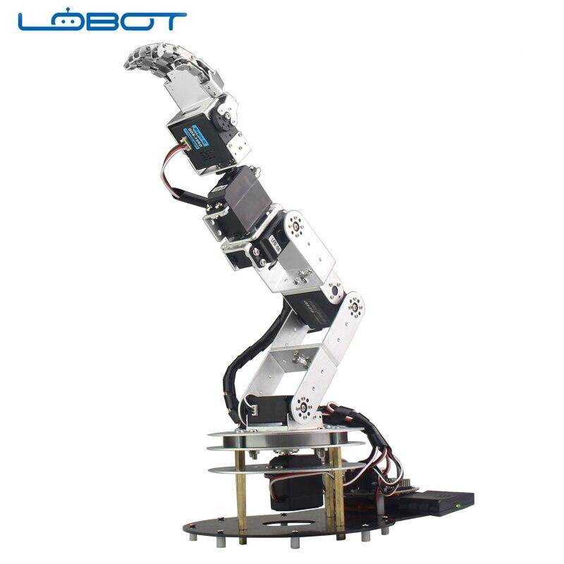 6DOF Robot Arduino bras cinq doigts alliage danse main Kit avec humanoïde télécommande RC pièces Robot jouet - 5