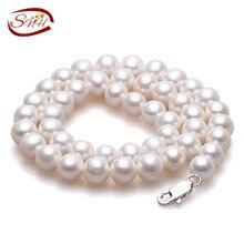 SNH Verdadero de Agua Dulce Naturales Collar de Perlas de Las Mujeres collar de La Joyería fina Perla 925 collar de plata esterlina Cultivadas de Perlas Genuinas