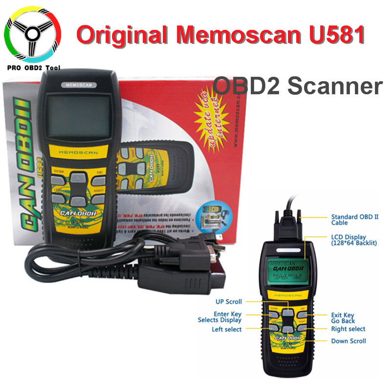 Newly Memoscan U581 OBD2 Scanner Live Data U581 CAN BUS Car Code Reader Automotive OBDII Professional Diagnostic Tool Free Ship 704201 000 [ data bus components dk 621 0438 3s]