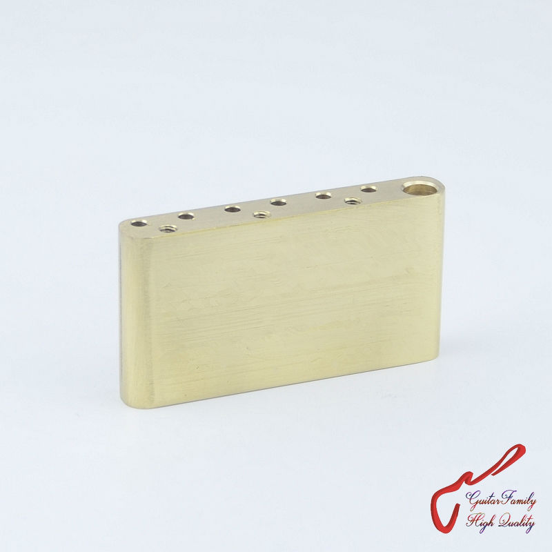 1 Piece GuitarFamily Hand-made Brass Block For Electric Guitar Tremolo System Bridge ( #1102 ) not fit  F-E-N-D-E-R