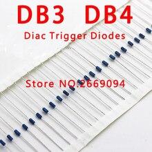 Diodes de déclenchement Diac, 100 pièces/500 pièces/5000 pièces DB3 DB-3 / DB4 DB-4, DO-35 DO-204AH, vente en gros