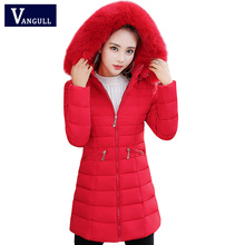 Winter Jacket Women Long Coats With Large Fur Collar New Design Pocket Parkas Ladies Women Outerwears Female Outfits Plus size