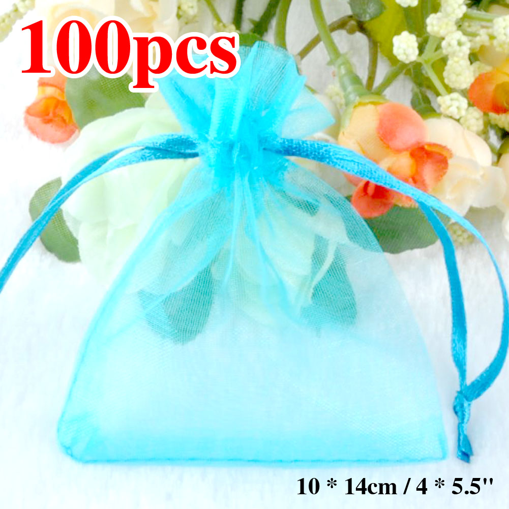 100pcslot Small Organza Bags Favor Wedding Christmas Gift Bag Light