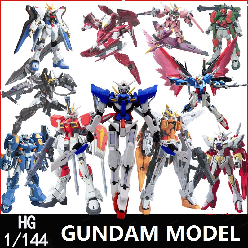 GAOGAO Gundam Model HG 1/144 Justice Freedom 00 Destiny Armor Unchained Mobile Suit Kids Toys With Holder