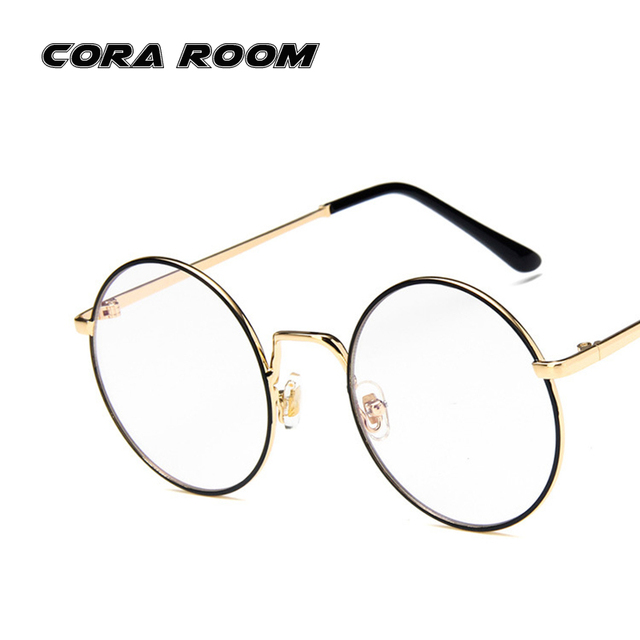 2018 new glasses frame retro flat glasses women brand master degree ...