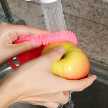 1Pcs Practical Dish Washing Sponge Scrubber Silicone Soft Cleaning Antibacterial Brush Tool Kitchen Bathroom Accessory Supplies palmolive ultra antibacterial orange dish washing liquid 10oz