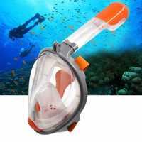 SMACO หน้ากากดำน้ำหน้ากากดำน้ำ Snorkel Scuba 180 องศาดำน้ำดูปะการังแว่นตาแห้งชุด Anti-fog สำหรับเด็กผู้ใหญ่