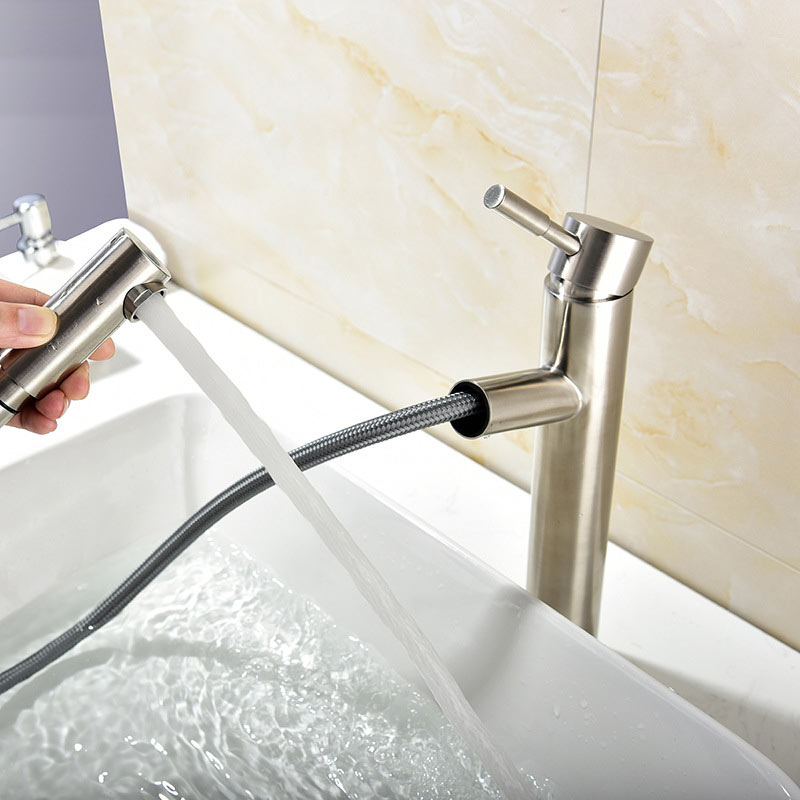 304 stainless steel wire drawing cold and hot basin faucet smoked pull out on the basin faucet lavatory faucet elsy куртка elsy 4260 0t31 sp ghisa 438 серый