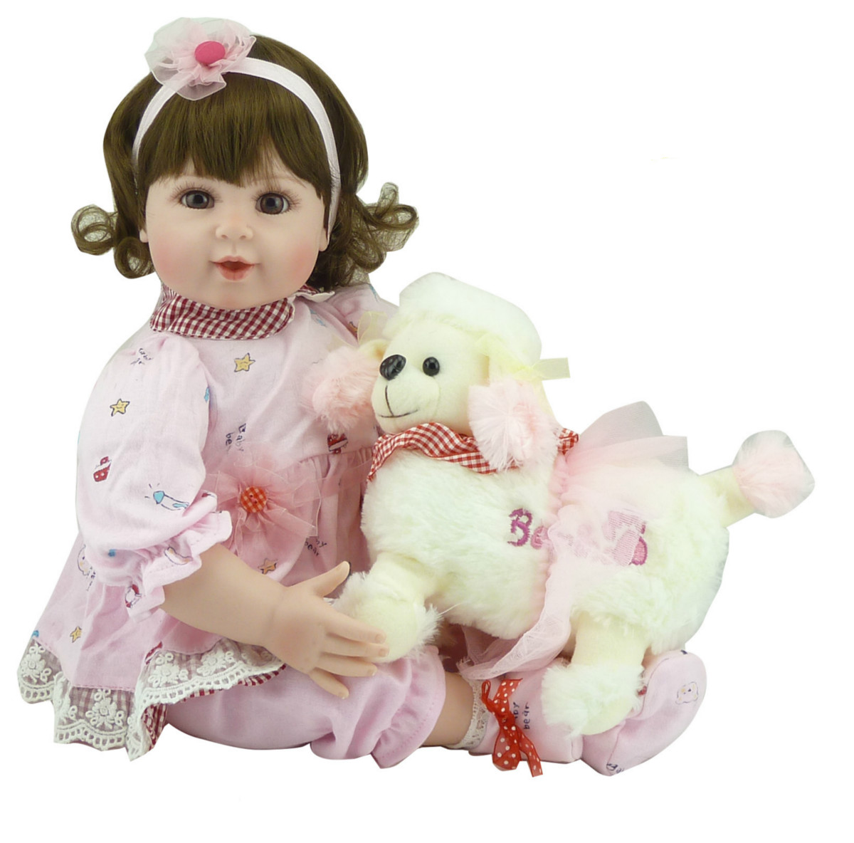 20 Inch Vinyl Dolls Soft Silicone Reborn Baby Doll Girl Kid Toys Birthday Gift Play House Toy for Christmas Presents hot sale silicone reborn babies dolls gift for child kid classic play house toy girl brinquedos baby reborn doll toys