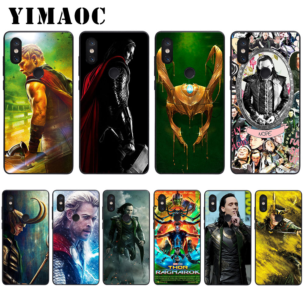 YIMAOC Marvel Hero Loki Soft Case for Xiaomi Mi5 Mi5S Mi6 Mi9 Mi8 Lite SE A1 A2 Lite Pocophone F1 MAX 3 in Fitted Cases from Cellphones Telecommunications