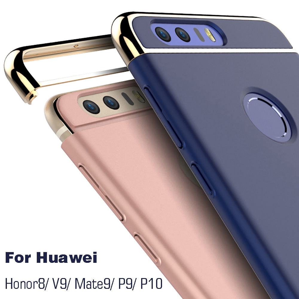 hot sale online c3a80 0369b Full Cover frosted phone case for huawei Honor 8/V9 Protective mobile phone  case For huawei Mate9/P9/P10 phone cover back case