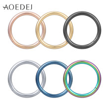 AOEDEJ 1PC Rvs Segment Nose Ring 16g Tepel Clicker Oorkraakbeen Tragus Helix Lip Piercing Unisex Body sieraden(China)