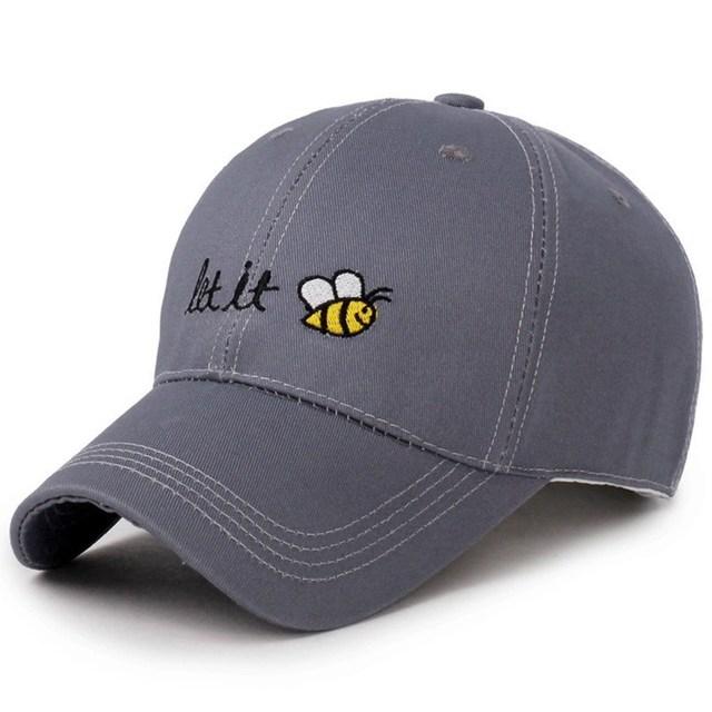 Cartoon Bee Baseball Cap Let It Cool Man Hat Summer Female Cartoon Sunhat  Sunscreen Loves Baseball Hats 7aa5f2b303d