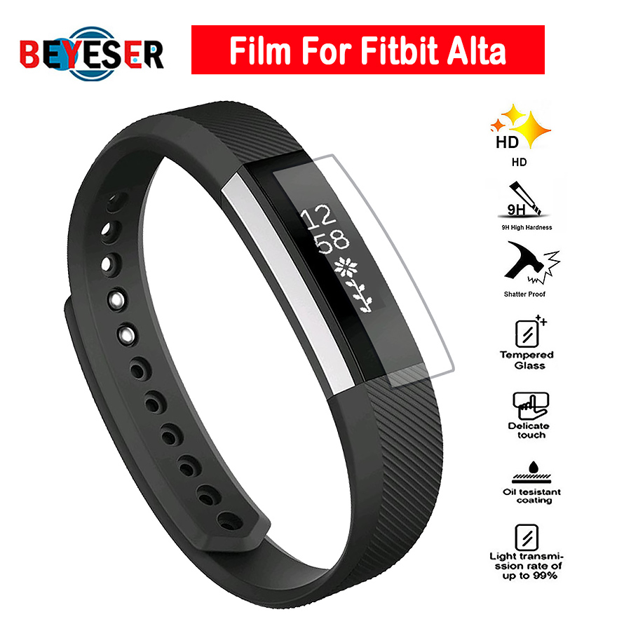 Full Cover Clear Screen Protector Film for Fitbit Alta HR Bracelet Ultra Thin HD High Definition TPU Material Protective Film image