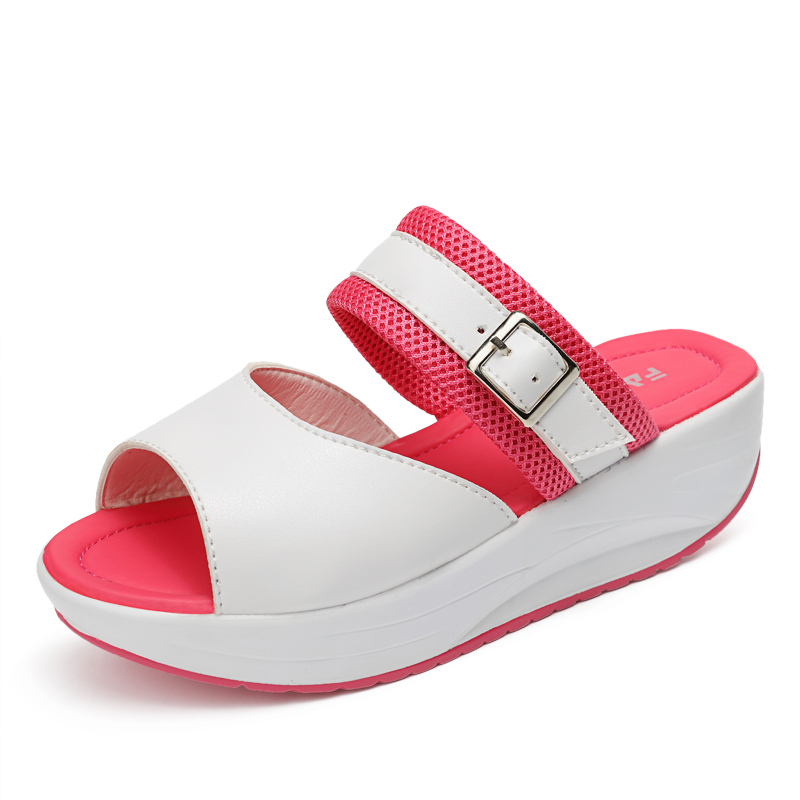 Summer Wedges Shoes Woman Gladiator Sandals Ladies Open Toe PU Leather Breathable Shoe Women Casual Shoes Platform Wedge Sandals 2017 gladiator summer shoes woman platform sandals women flats soft leather casual open toe wedges sandals women shoes r18