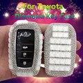 Роскошный Алмазный чехол для ключа автомобиля/держатель для ключа для Toyota Land Prada Corolla RAV4 CROWN REIZ Highlander аксессуары